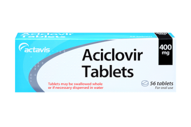 Pack of 56 tablets aciclovir 400 mg for genital herpes