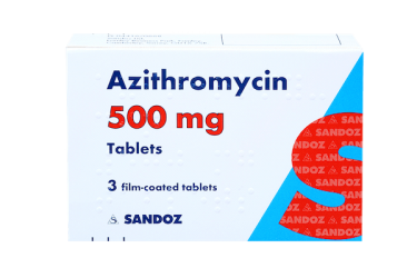 Azithromycin 500mg, pack of 3 tablets