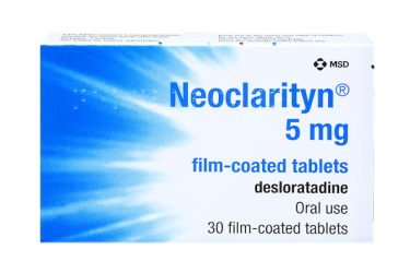 pack of neoclarityn tablets for hayfever