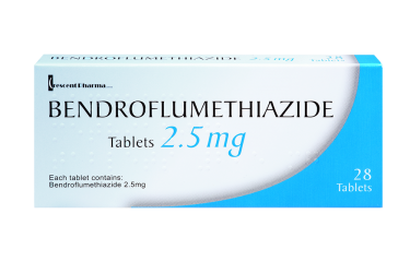 pack of the blood pressure medication bendroflumethiazide
