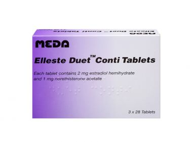 Pack of 84 Elleste Duet Conti 2mg/1mg estradiol hemihydrate/norethisterone acetate tablets