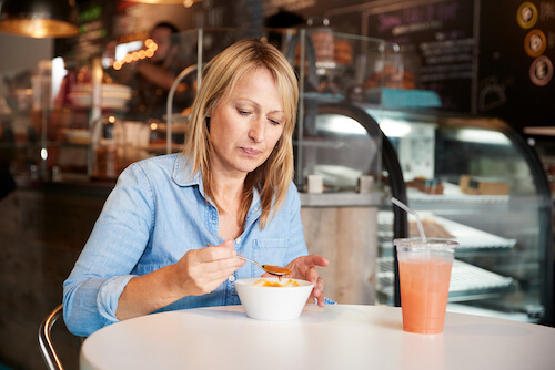 Woman dieting during menopause
