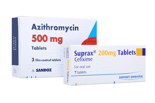 pack of azithromycin 500mg and cefixime 200mg tablets