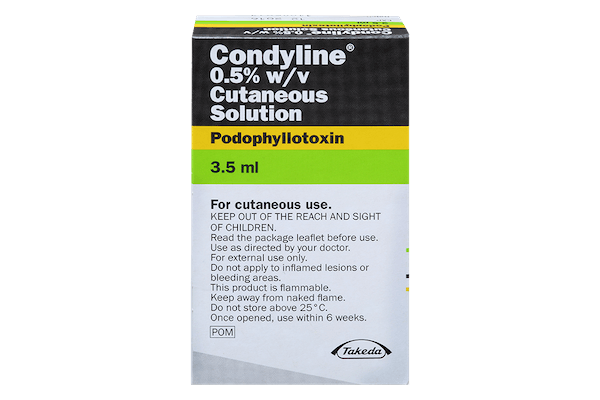 pack of condyline 3.5ml solution for genital warts