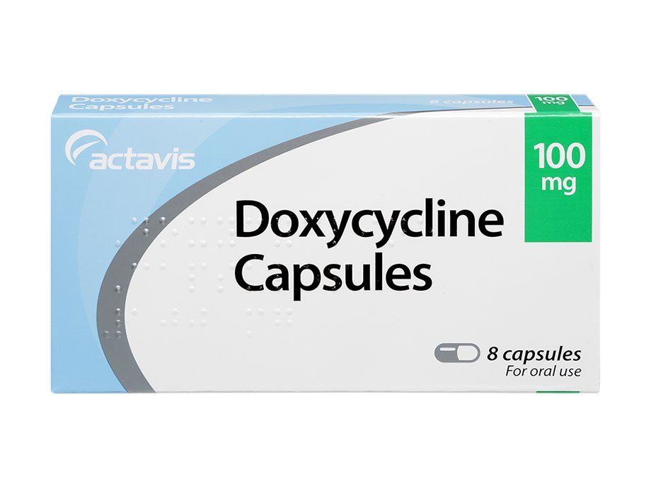 1 pack of 8 100mg Doxycycline capsules for chlamydia