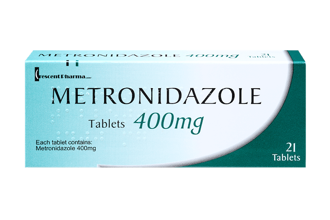 metronidazole 400mg, pack of 21 tablets