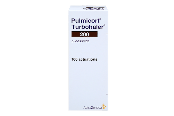 pack of Pulmicort 200 asthma inhaler, 100 actuations