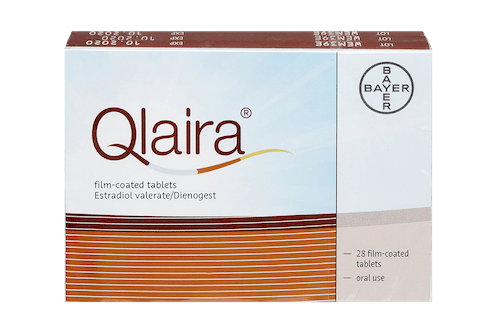 qlaira contraceptive pill, pack of 28 film-coated tablets