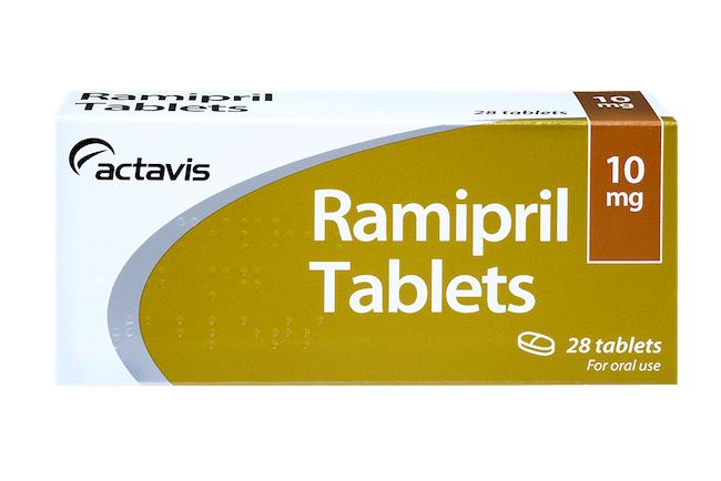 3 month course of Ramipril, pack of 28 tablets 10 mg